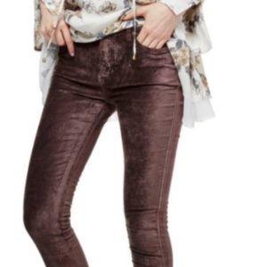 Free People Augberdine Stretch Velvet Cyndi Jeans